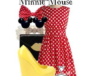 disney, fashion, and minnie image