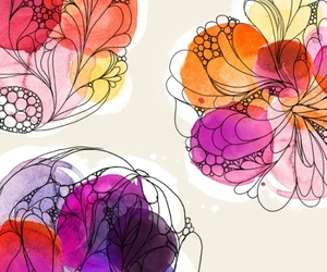 art, flowers, and background image
