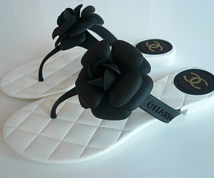 camellia, chanel, and sandals image