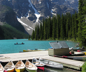 Banff National Park, canoes, and canada image