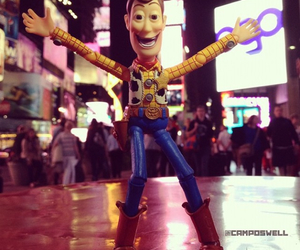 new york, time square, and woody image