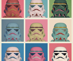 star wars, pop art, and storm trooper image
