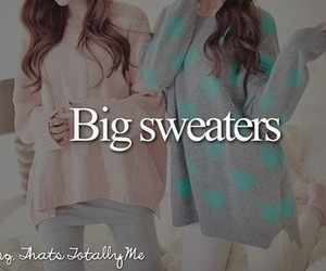 sweater, big, and winter image