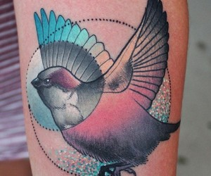 art, bird, and ink image
