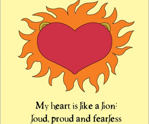heart, fearless, and lion image