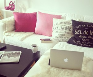 pink, girly, and macbook image
