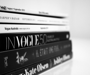 vogue, book, and magazine image