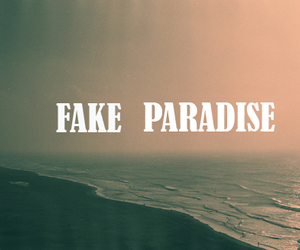 paradise, text, and fake image