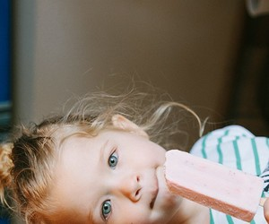baby, ice cream, and cute image