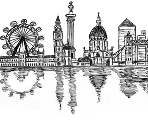 drawing, Londres, and london image