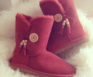 boots, uggs, and red image