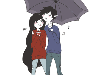 marceline, adventure time, and marshall lee image