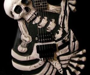 guitar and skull image