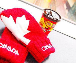 canada, canadian, and red mittens image