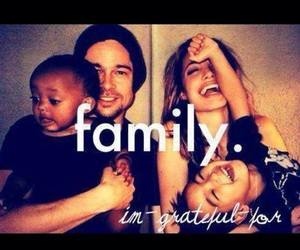 family, brad pitt, and cute image