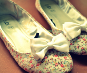 shoes, flowers, and bow image