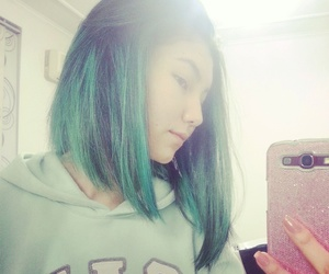 blue, girl, and bluehair image