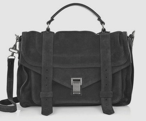 bag, black and white, and suede image