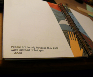 quote, lonely, and bridges image