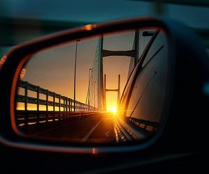 car, sun, and photography image