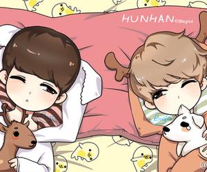 exo, hunhan, and luhan image