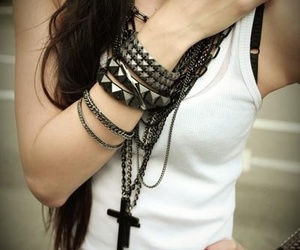 girl, style, and bracelet image