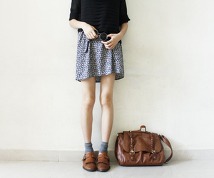 girl, bag, and indie image
