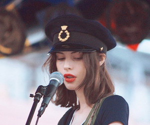 girl, red lips, and singer image