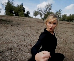blonde, nature, and fighting image