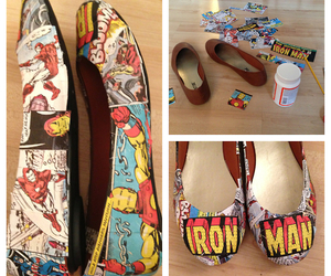 diy, iron man, and shoes image