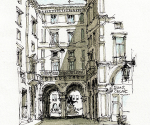 arches, building, and drawing image