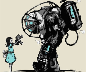 bioshock, game, and little sister image