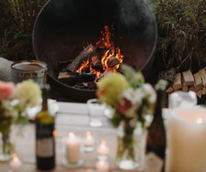 beautiful, evening, and fire image