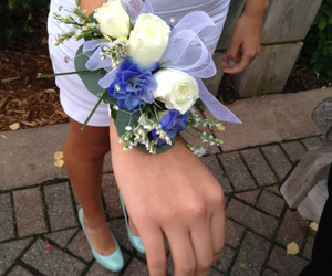 corsage, flower, and homecoming image