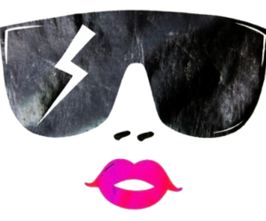 Amber Rose, pink lips, and separate with comma image