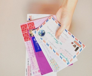 girly, letters, and mail image