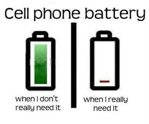 phone, battery, and funny image