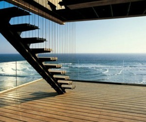 stairs, sea, and architecture image