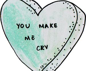 cry, transparent, and heart image