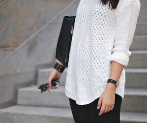 black, sweater, and fashion image