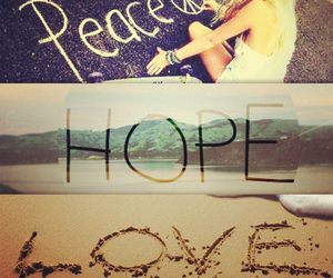 hope, peace, and love image