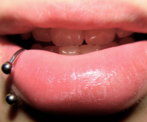 art, piercing, and labret image