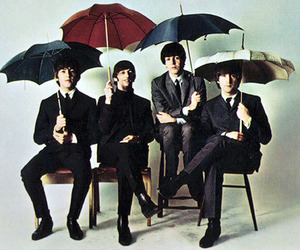 the beatles, beatles, and umbrella image