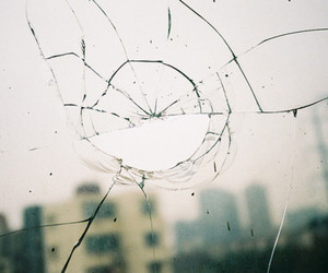 broken, photography, and glass image