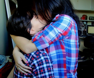 couple, girls kissing, and girls image
