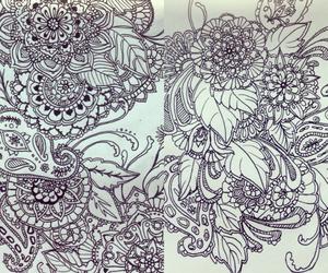 background, doodle, and henna image