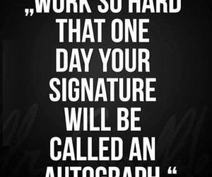 quotes, autograph, and work image