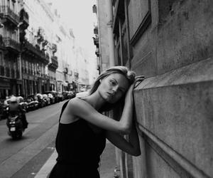 model, Magdalena Frackowiak, and black and white image