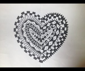 draw, heart, and love image