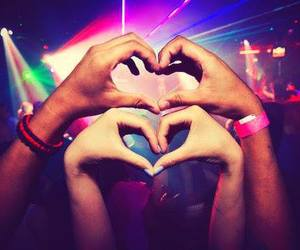 love, party, and heart image